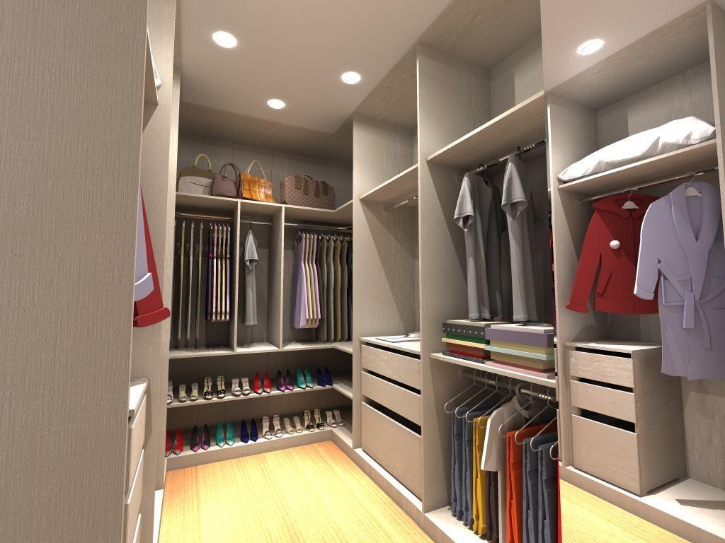 Projeto de closet bem distribuído Modelos de closets