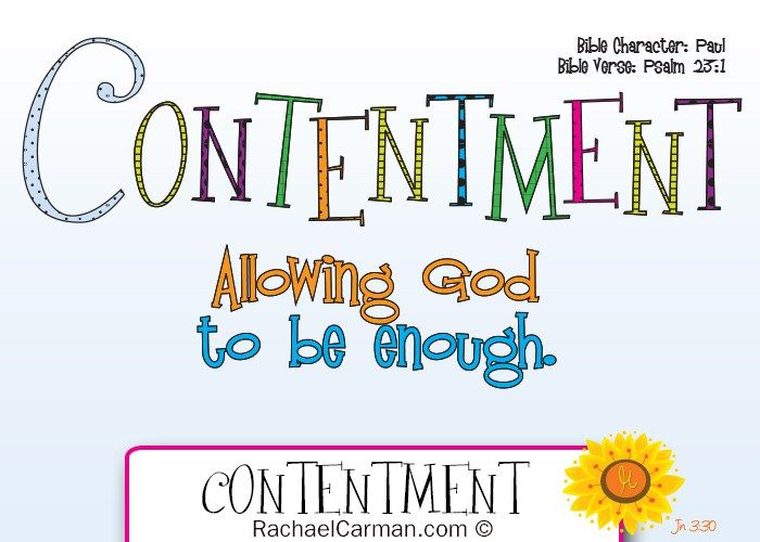 Character Quality: Contentment with free coloring page | Bible