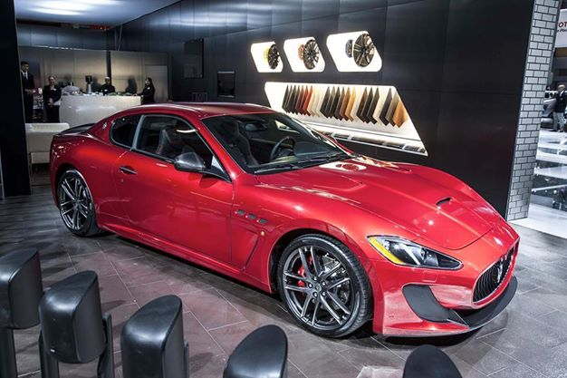 """The new """"Rosso Magma"""" finish emphasizes the sporting nature of the GranTurismo MC Stradale Centennial Edition."""