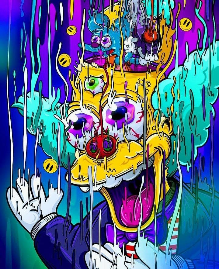 Thesimpsons Ua The Simpsons Simpsons Art Bart Simpson Art Psychedelic Art