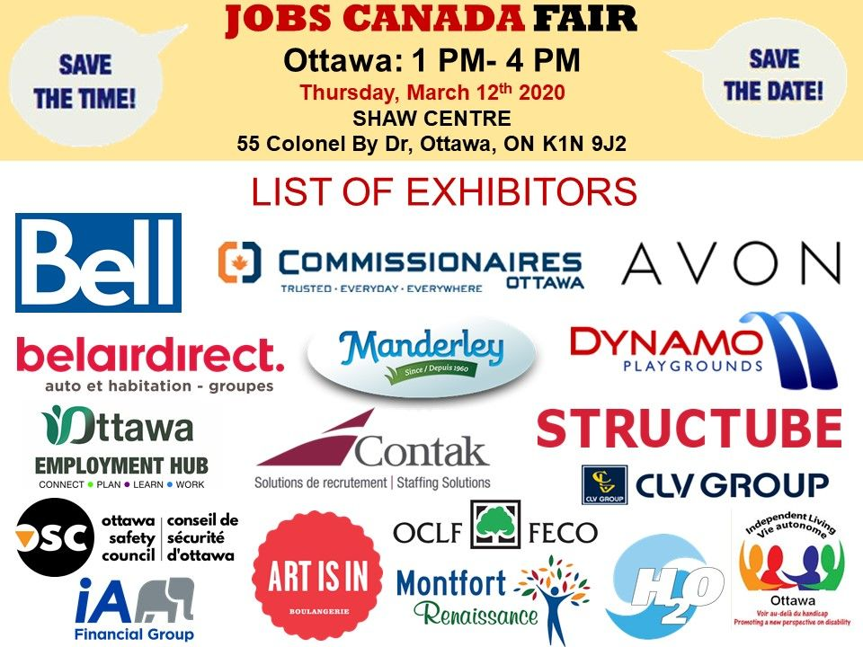 List Of Hiring Companies For Ottawajobfair On March 12th 2020 1