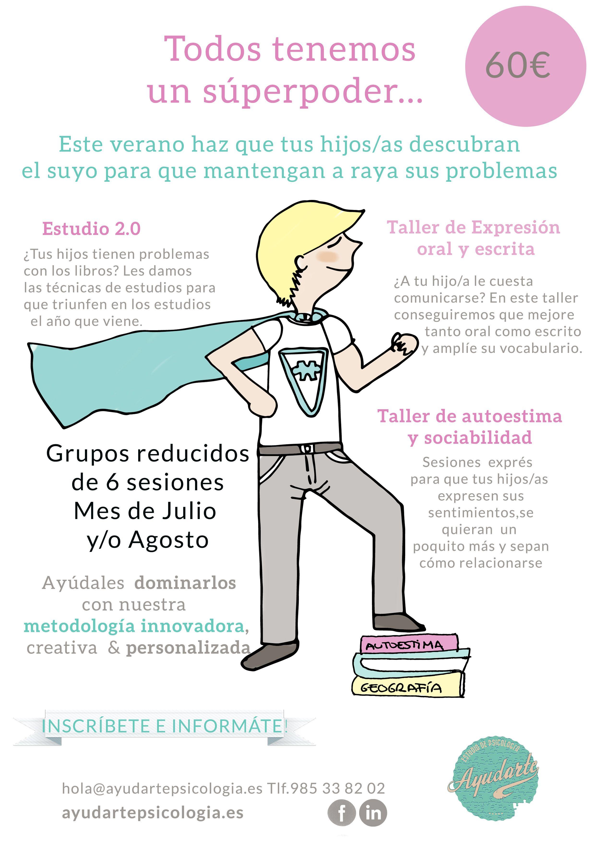 Taller de verano para adolescentes en Gijón