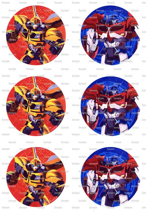 Transformers Birthday Edible Cake And Cupcake Topper For