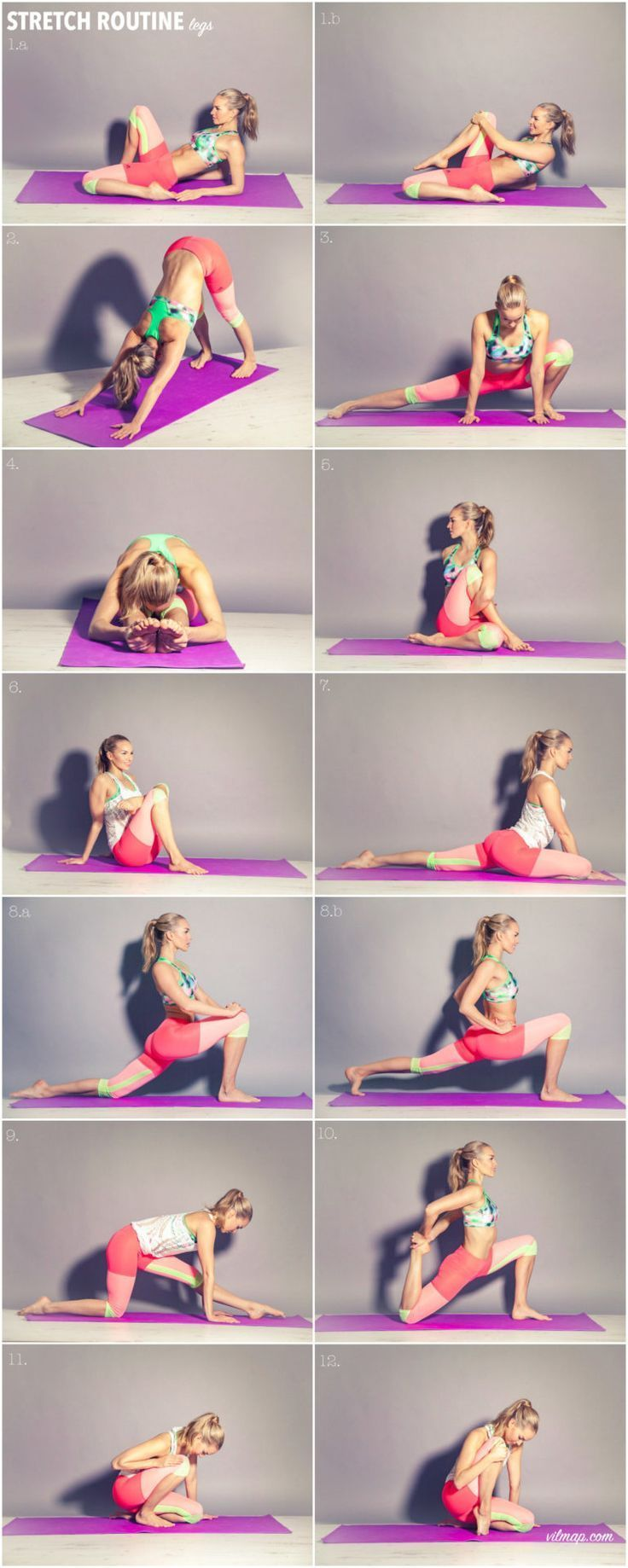 stretch-routine-legs-vilma-p #BeautyBlog #MakeupOfTheDay #MakeupByMe #MakeupLife... - Yoga fitness -...