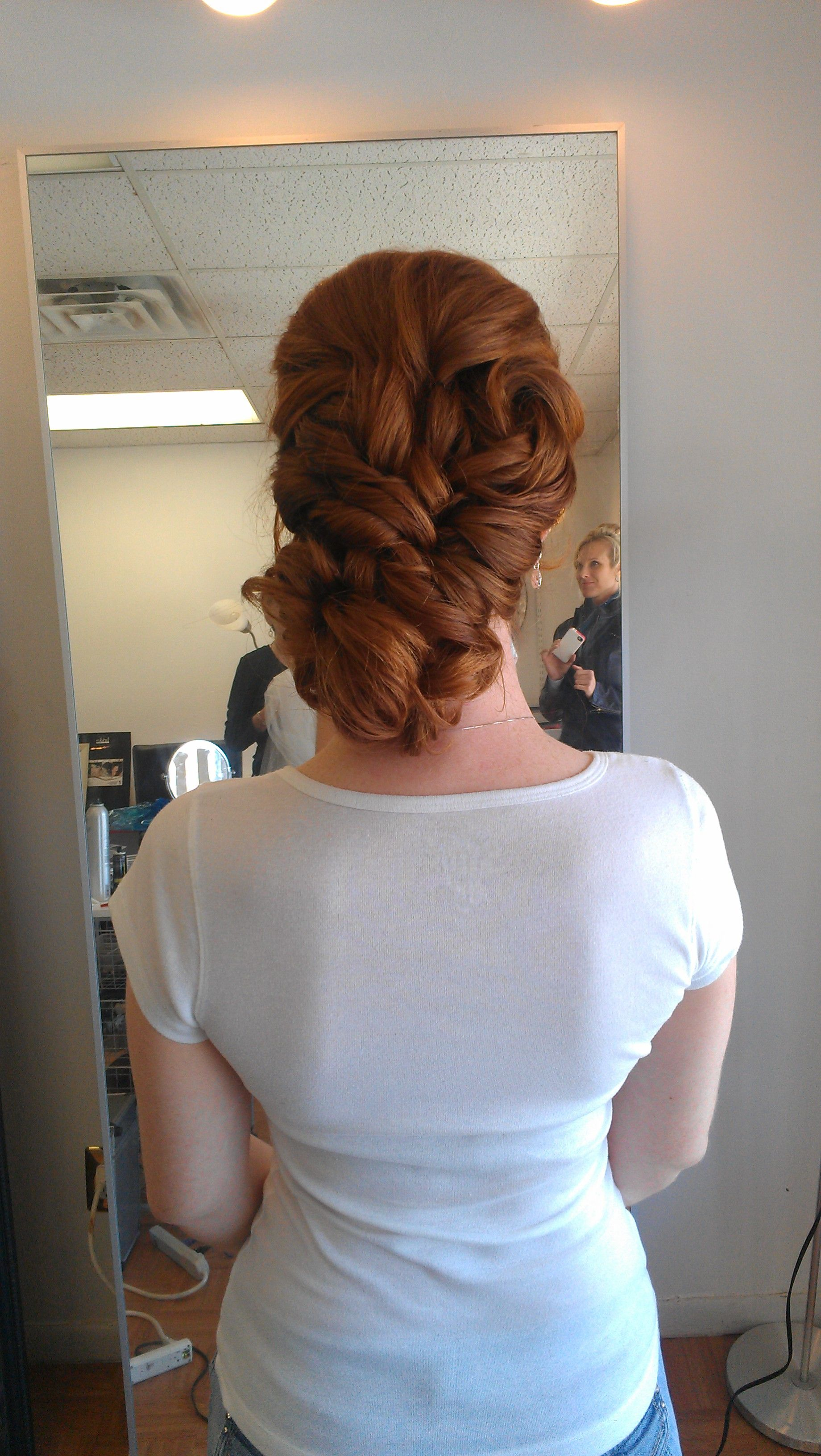Choose an image: hairstyle with a bang for a wedding