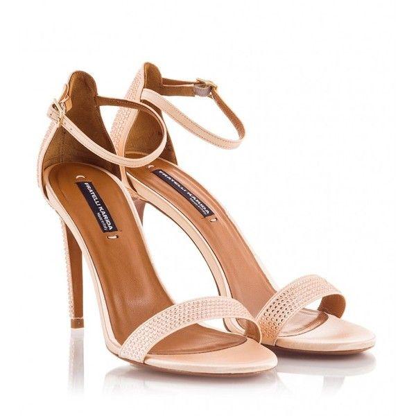 ec0ad9bab33 Fratelli Karida - Nude satin multi-studded high heel sandal (65.665 HUF) ❤