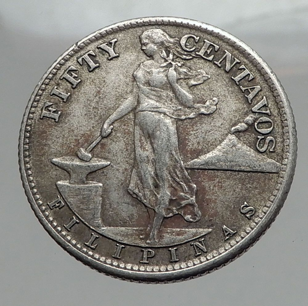 1944 S Philippines Fifty Centavos