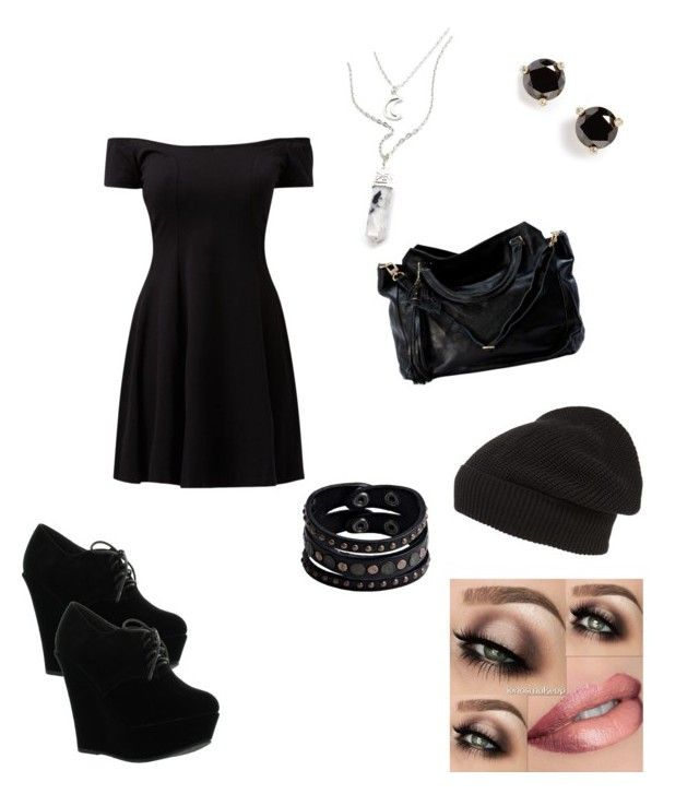 """Funeral time :'("" by desirae-rabren ❤ liked on Polyvore featuring Forever Link, Phase 3, Replay, Kate Spade, women's clothing, women, female, woman, misses and juniors"