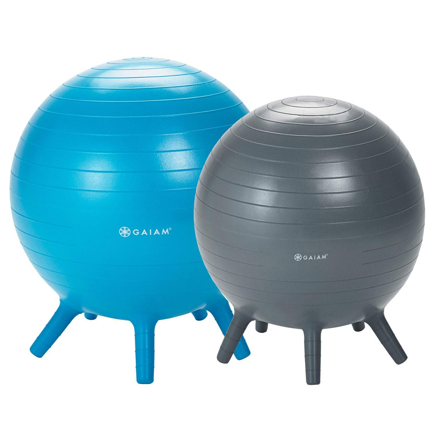 Built-in Stay-Put Soft Stability Legs Gaiam Kids Stay-N-Play Childrens Balance Ball Prints /& Sizes Flexible School Chair Active Classroom Desk Alternative Seating