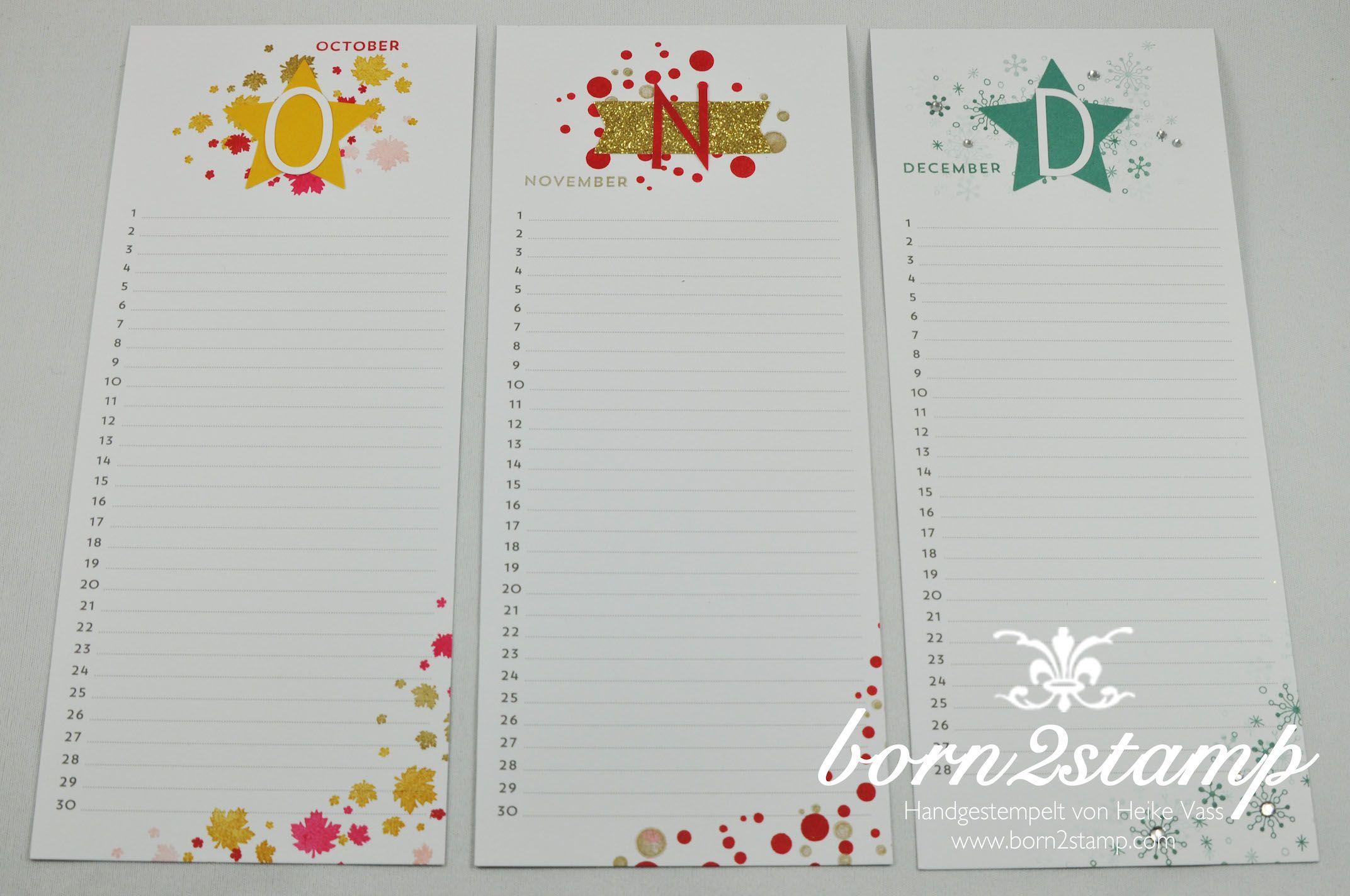 STAMPIN' UP! born2stamp Kalender Perpetual Birthday Calendar Projektset Kalenderkunst