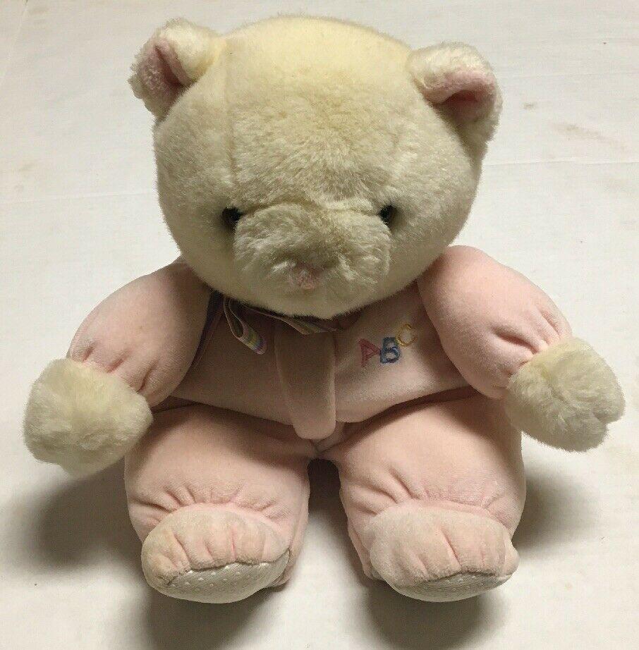 Vtg Eden Abc Teddy Bear Plush Pajamas Stuffed Animal Pink Toy Striped Ribbon 13 Eden Teddy Bear Plush Teddy Bear Stuffed Animal Bear Baby Toy [ 922 x 906 Pixel ]