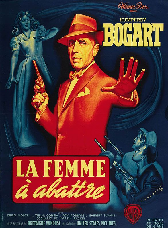 French Grande Poster For The 1951 Bogart Noir Classic The Enforcer Shared Via Adrian Curry S Movie French Movie Posters Classic Movie Posters Movie Posters