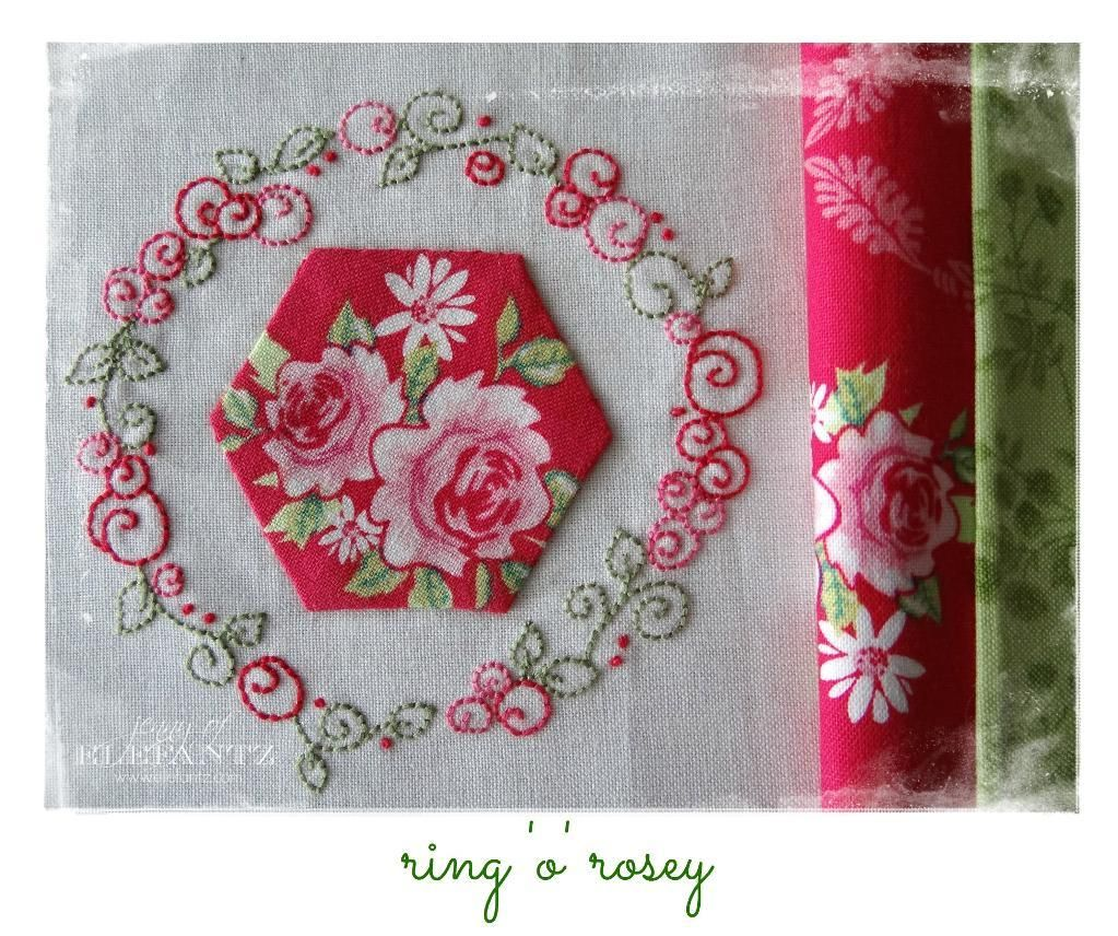 Looking for your next project? You're going to love Ring 'o' Rosey - stitchery 2 sizes by designer Elefantz.
