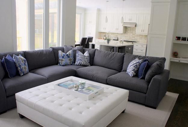 22 Open Plan Living Room Designs And Modern Interior Decorating Ideas Grey Sectional Sofa Large Sectional Sofa Modern Furniture Living Room