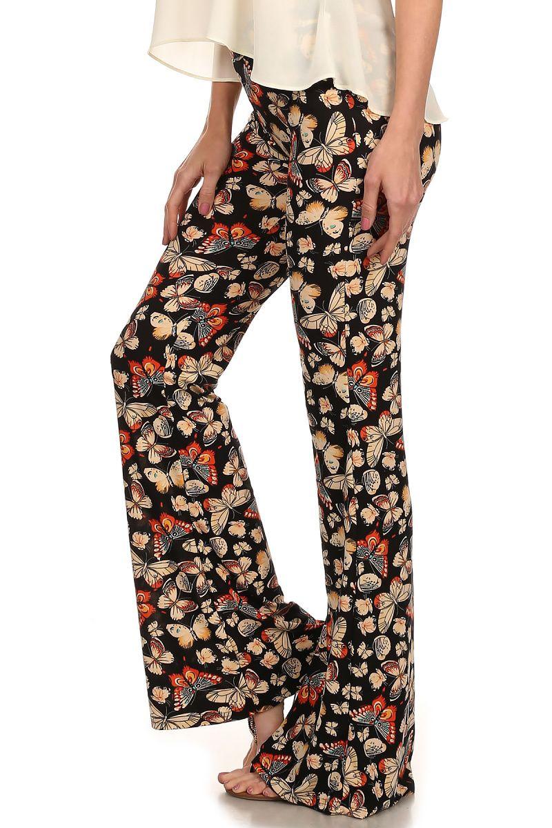Autumn Butterfly Bell Bottom Leggings - $24 at OnlyLeggings.com -  #OnlyLeggings