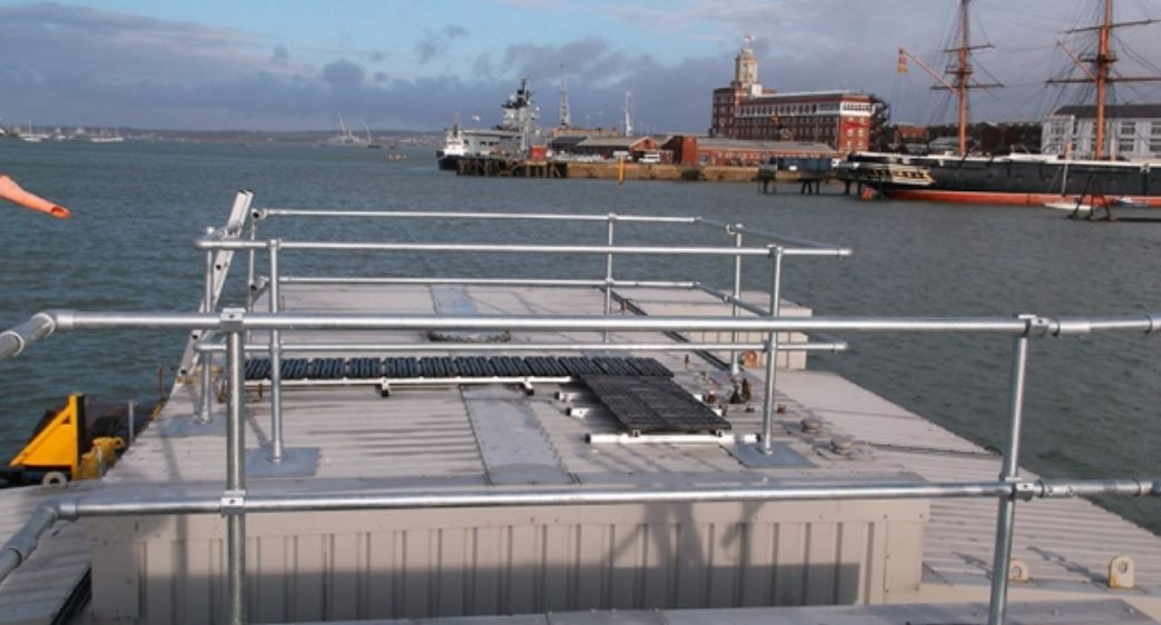 Edge Protection And Anti Slip Surface At Portsmouth Harbour Portsmouth Harbour Portsmouth Under Construction