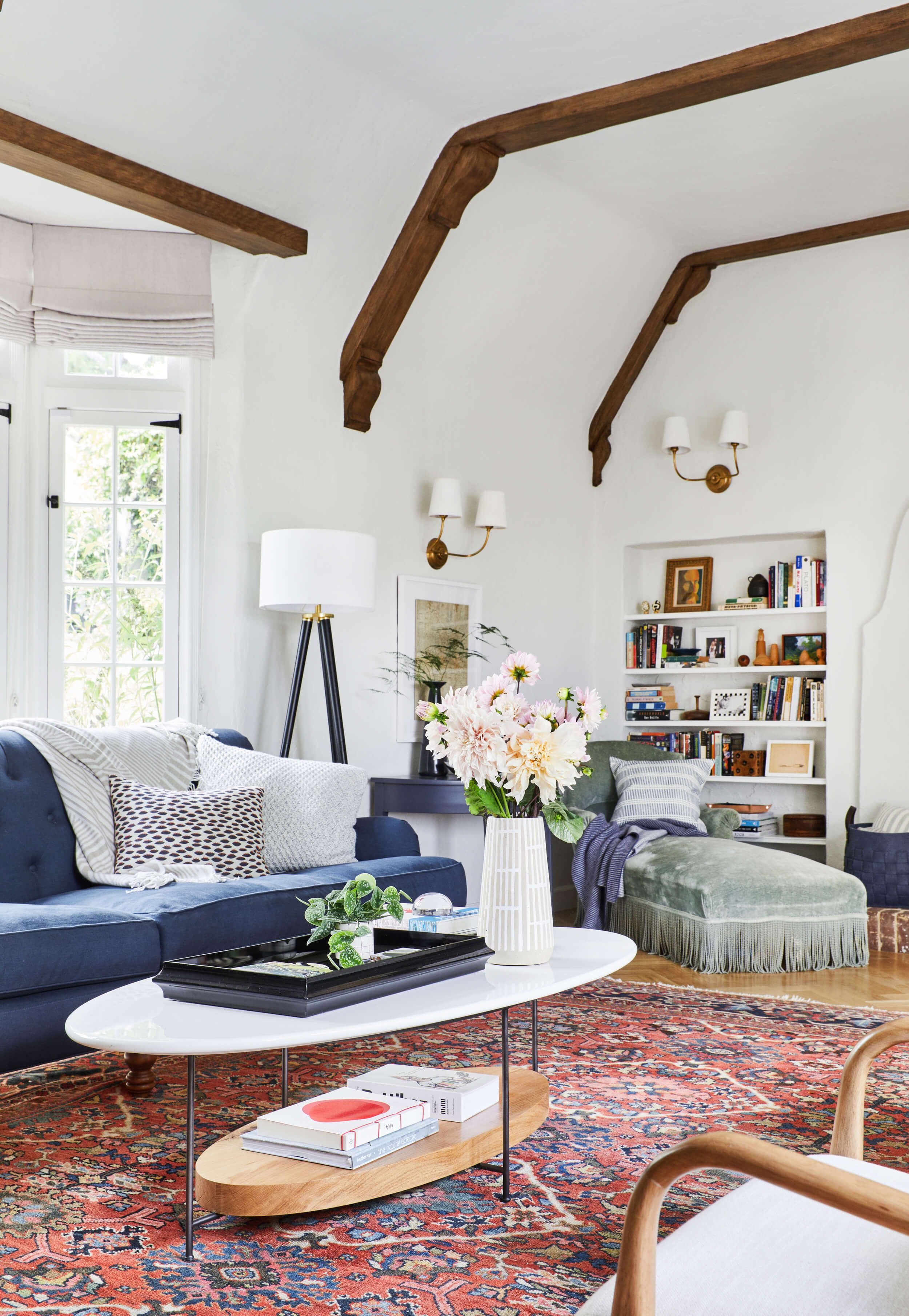 Our Modern English Tudor Living Room Emily Henderson English  # Muebles Eh Elegant House