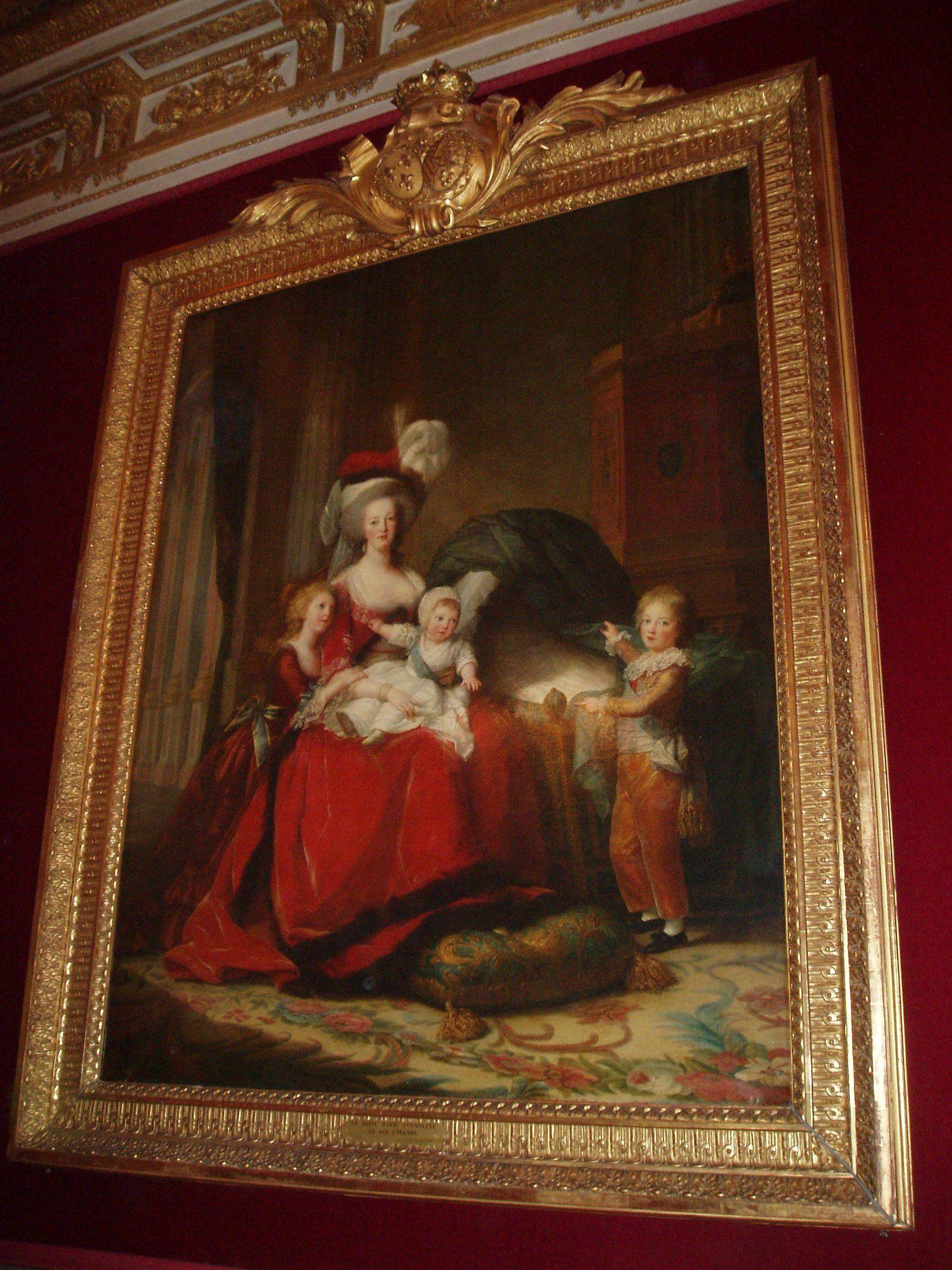 Versailles - Grandi appartamenti della Regina - Ritratto di maria Antonietta