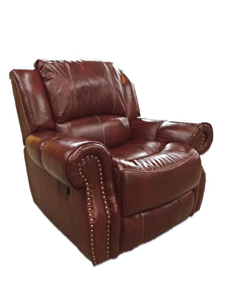 Italian Leather Oxblood Rocking Recliner Recliner Furniture Clearance Leather Furniture
