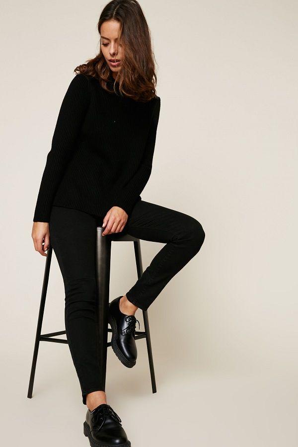 Polo Ralph Lauren Pull en laine finitions en cuir noir   Monshowroom ... 5961d5e1548