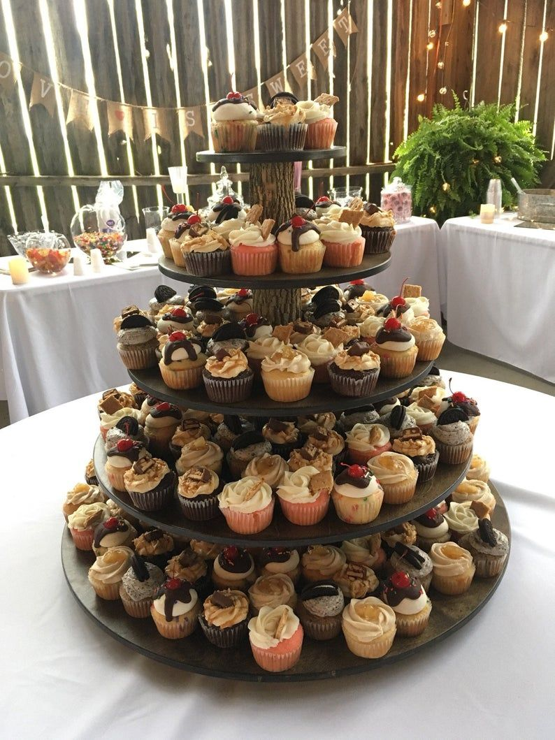 Cupcake stand tower holder 5 tier rustic or standard