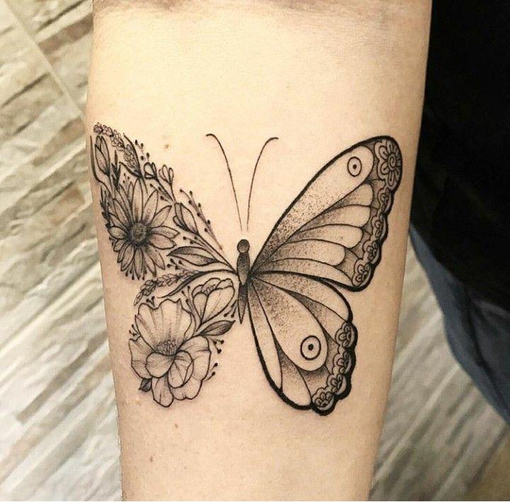 Tatoo Borboleta Flor Tatuagem Borboleta Tatuagem Feminina