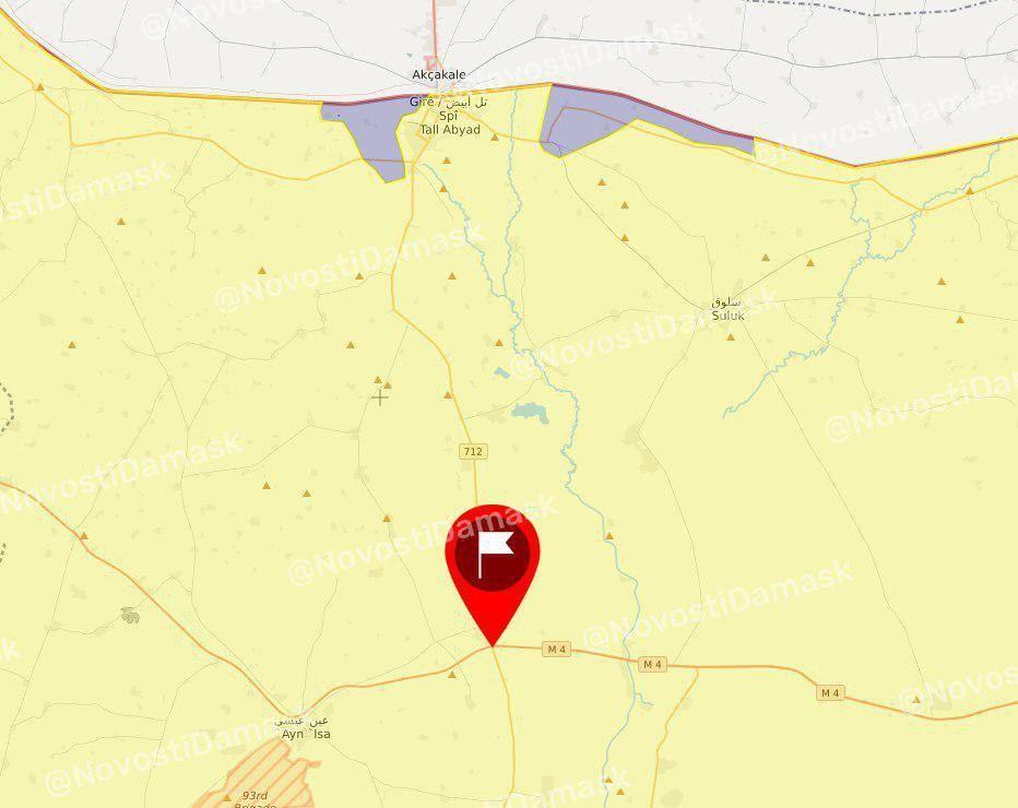 خريطة السيطرة في تل أبيض شمال سورية 11 10 2019 شاشة سورية الإخبارية