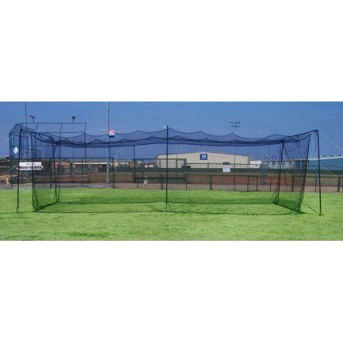 Batting Cage Netting 25x12x11 NET Only 3mm Braided Poly - http://www.learnbatting.com/baseball-equipment-deals/batting-cage-netting-25x12x11-net-only-3mm-braided-poly/