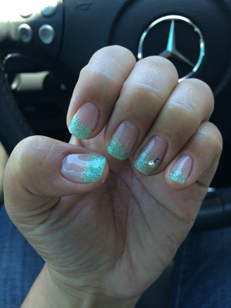 Calgel glitter tips | Beauty, makeup product obsession | Pinterest ...