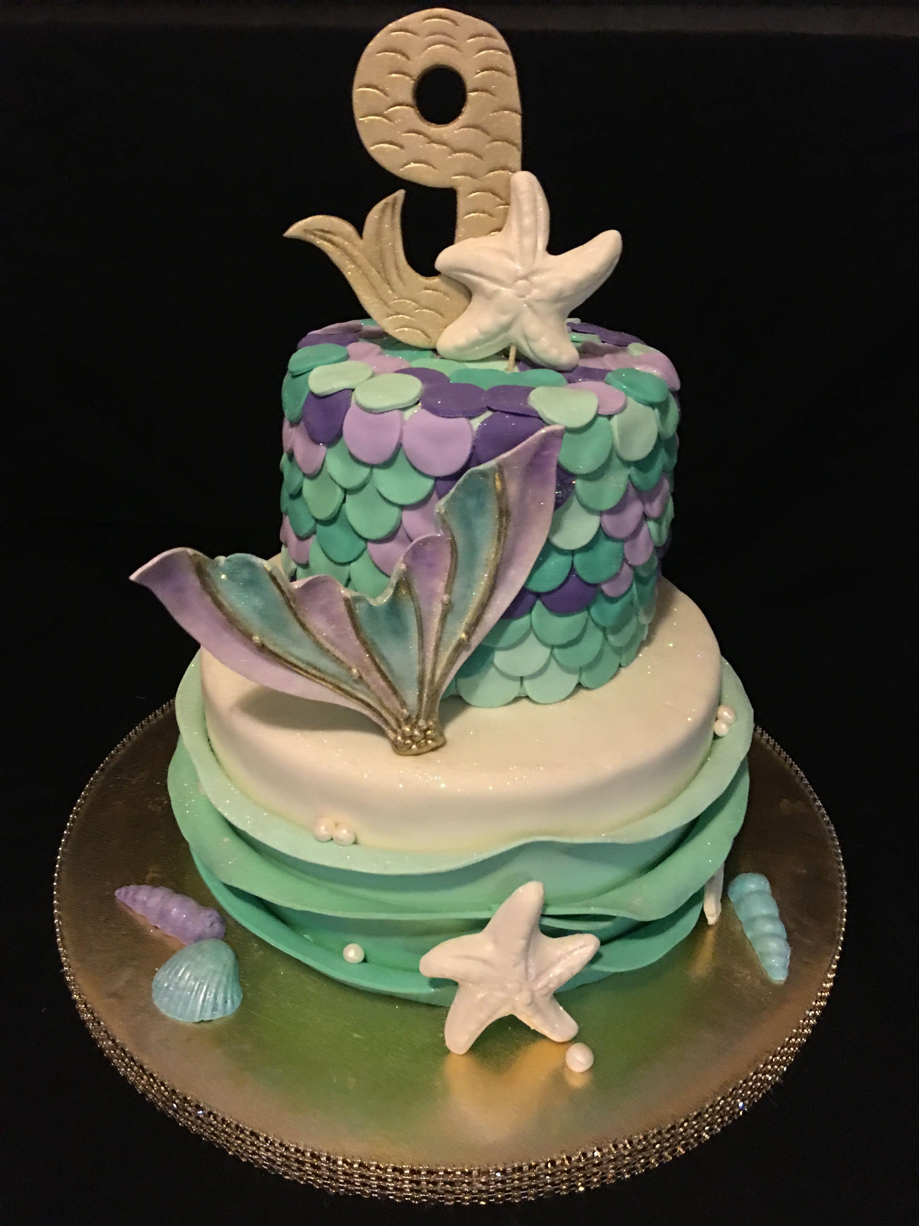 Gianna S 9th Birthday Mermaid Birthday Cakes Mermaid Birthday