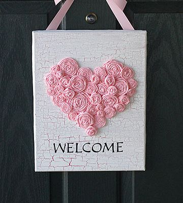 Valentine's Day Welcome Sign Craft   Valentine's Day Craft   Love the Country