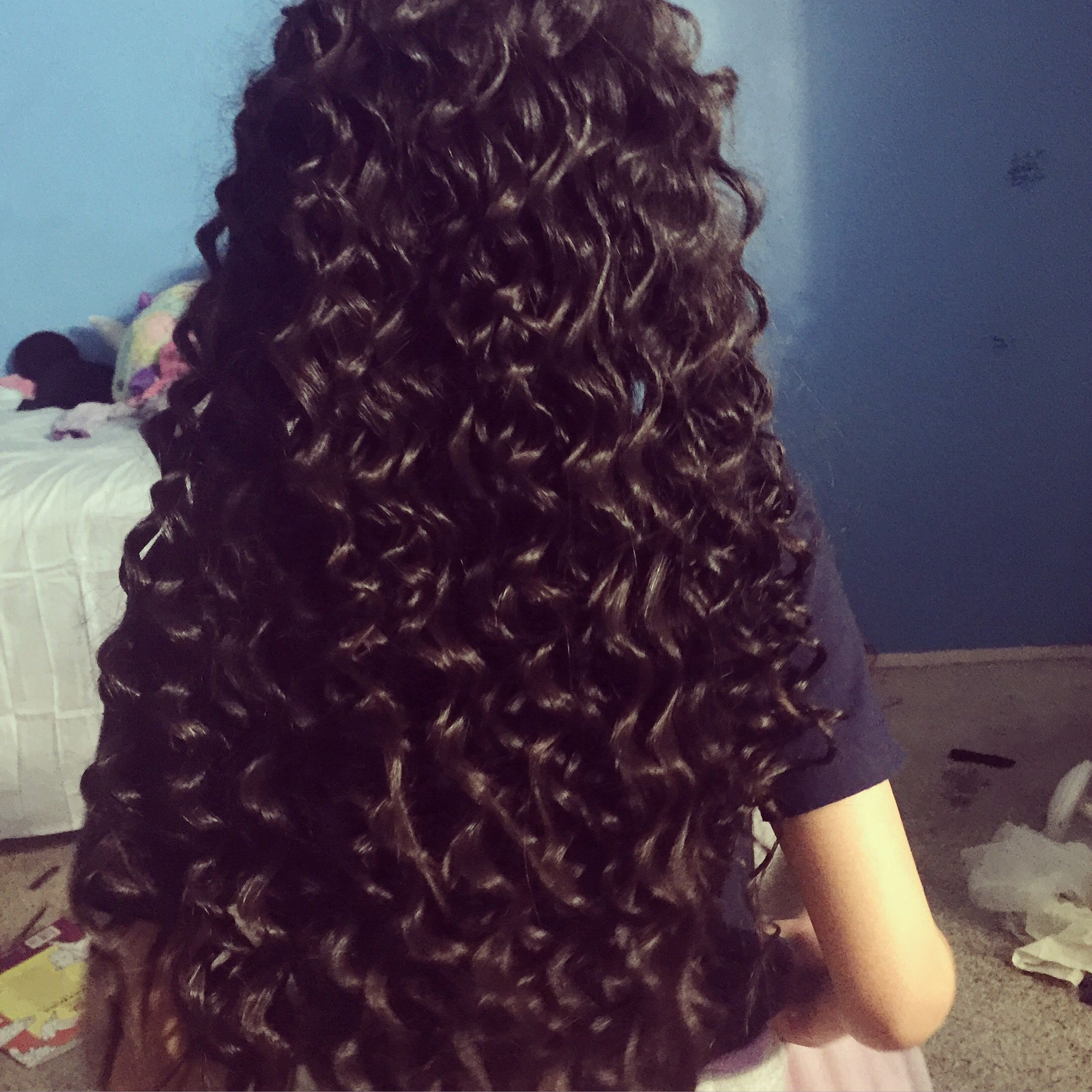 curled with pencil and daly iron super cute curls for short or