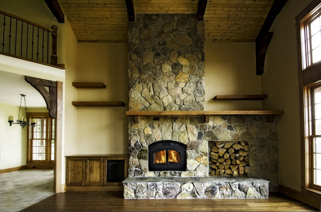 How to Build a River Rock Fireplace Fireplace Pinterest