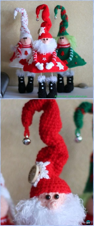 Pin de Sandra Gale ⛱ en Christmas Crochet Pinterest Navidad