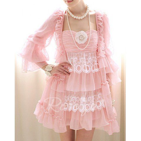 Vintage Flared Sleeve Ruffled Chiffon Blouse For Women- LOL I'm only pinning this because it reminds me of Yumi's outfit from Nancy Drew- Shadow at the Water's Edge. :P