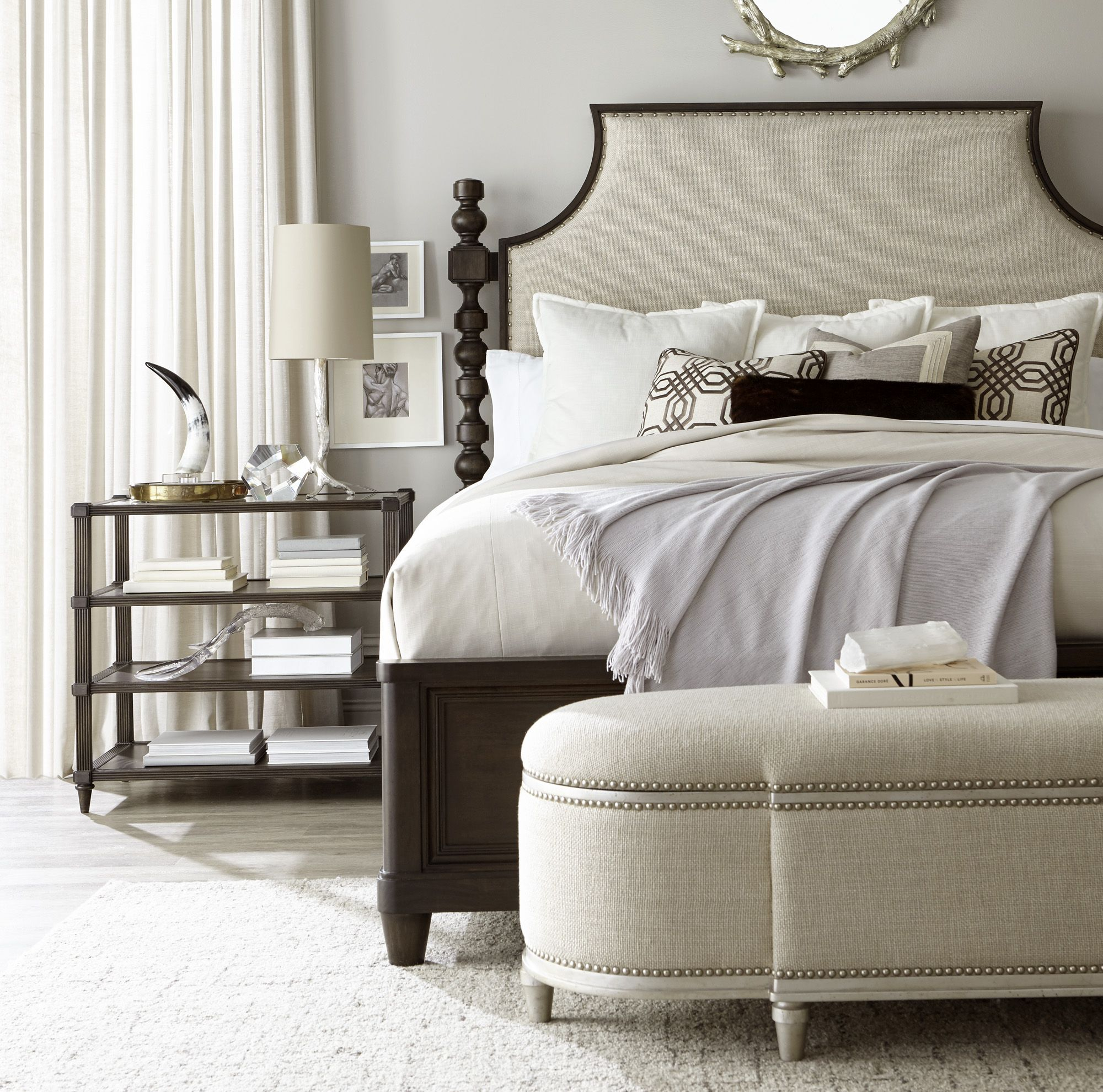 Morrissey Healy Upholstered Panel Bed with the Ellman Book