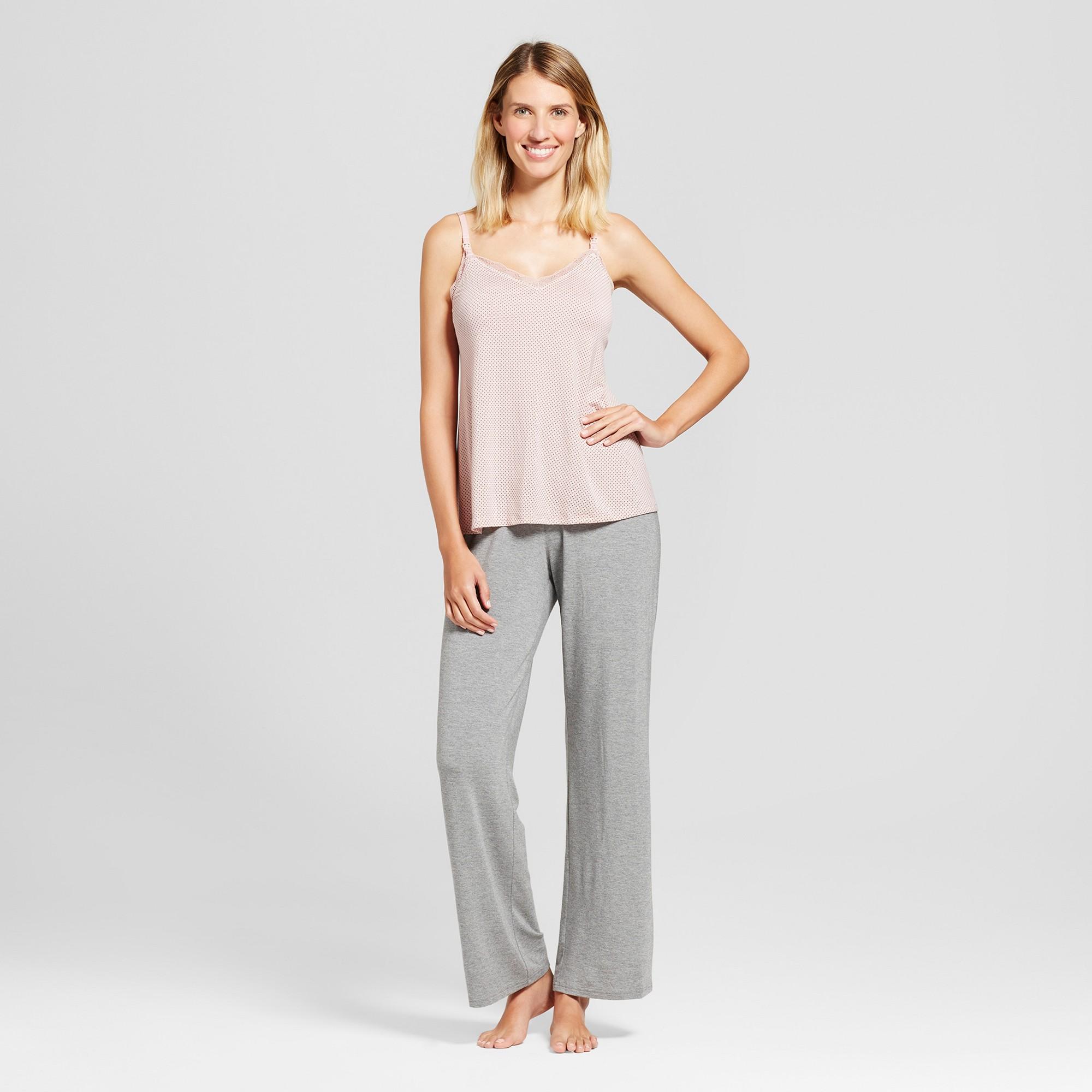 e9db88c6e1 Maternity Nursing 3pc Pajama Set Medium Heather Gray Xxl