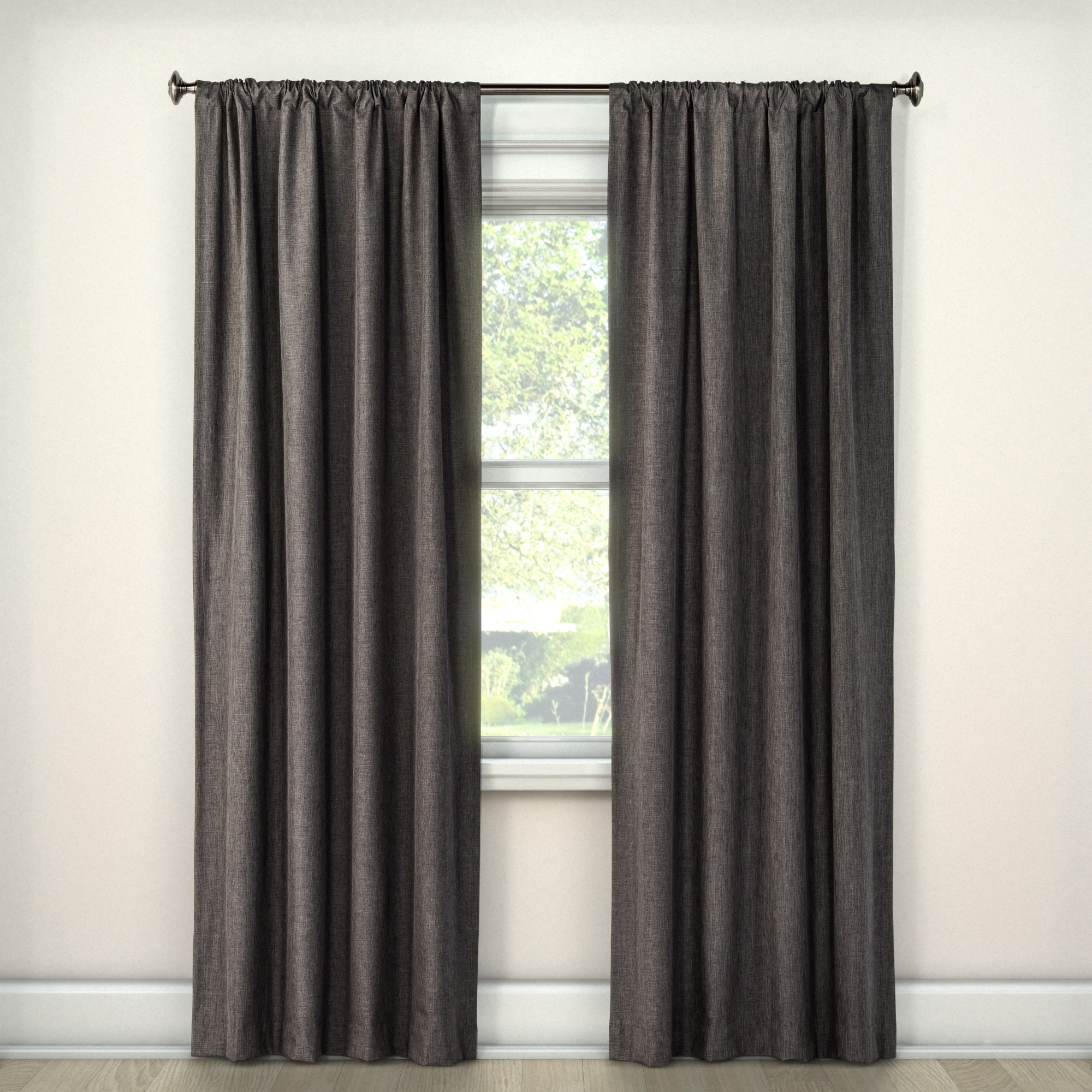 63 X42 Heathered Thermal Room Darkening Curtain Panel Dark Gray Room Essentials In 2020 Panel Curtains Light Blocking Curtains Solid Curtains