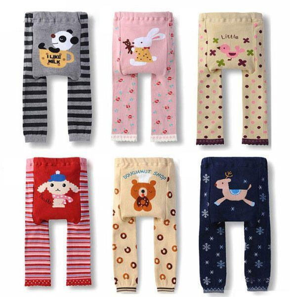 Awesome Baby Pp Pants Boys Girls Cartoon Print Knitted Elastic Waist Toddler Leggings Kids Clothes 5 91 Bu Toddler Tights Baby Tights Boy And Girl Cartoon