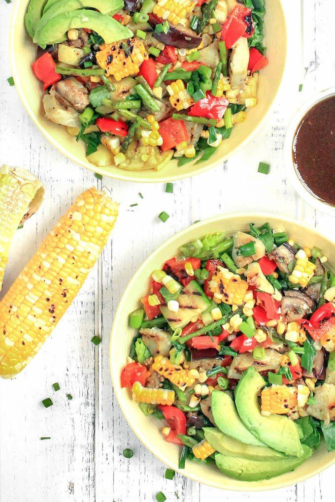 Grilled Veggie Salad with Balsamic-Dijon Dressing Recipe Labour
