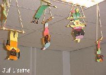 Trapeze Pieten; zie ook board tekenlesidee circus/theater #zwartepietknutselen
