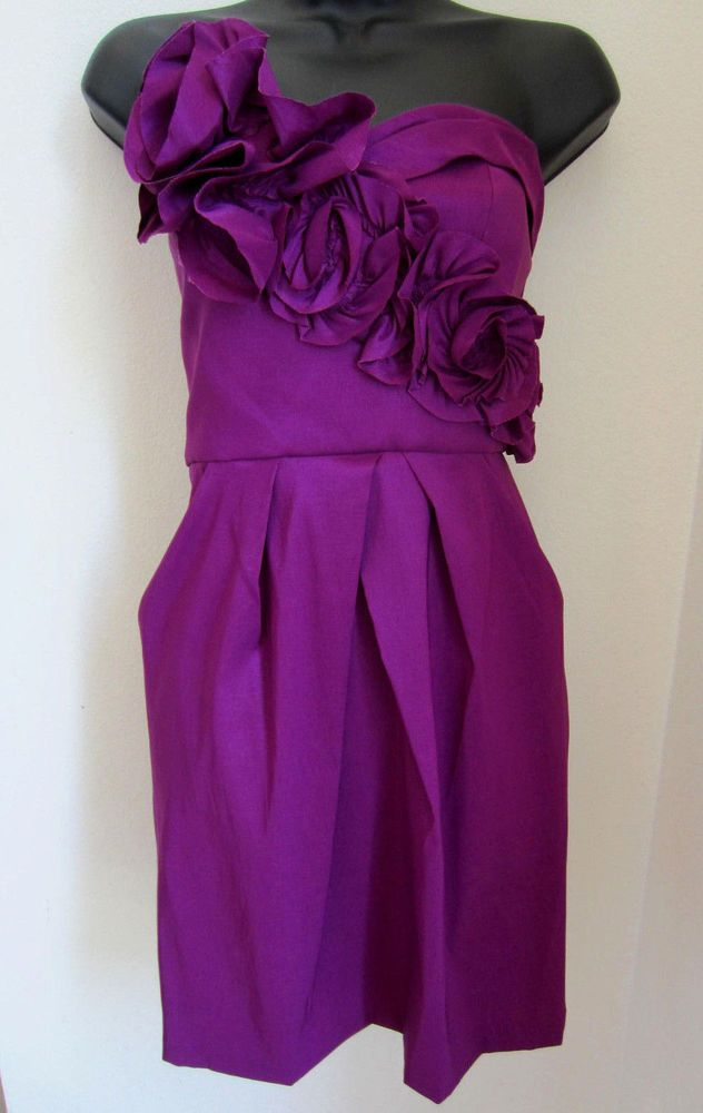Max Cleo Dress 6 Strapless Pockets Rose Wine Lola Cocktail NEW CLEARANCE