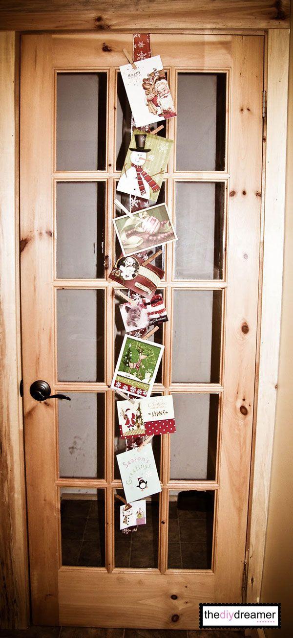 Ribbon Christmas Card Holder Christmas Card Holders