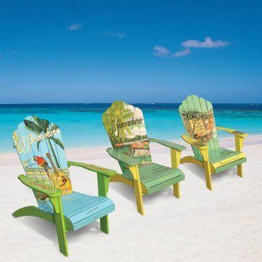 Margaritaville adirondack chairs chairs Pinterest Sillas - sillas de playa