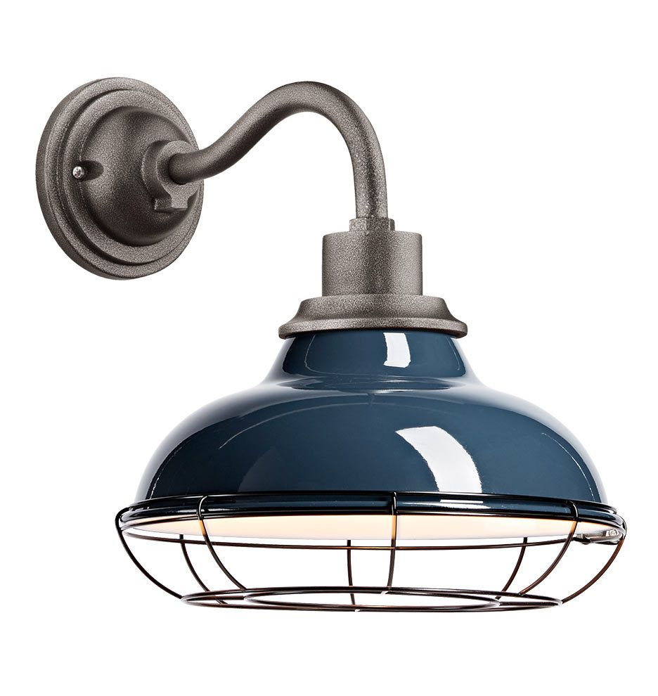 Carson 12 Wall Sconce With Cage Thunder Blue Wall Sconces