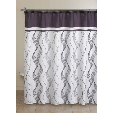 Mainstays Cosmo Shower Curtain Set 13 Piece Size 70 Inch X 72 Inch Fabric Shower Curtains Shower Curtain Sets Curtains