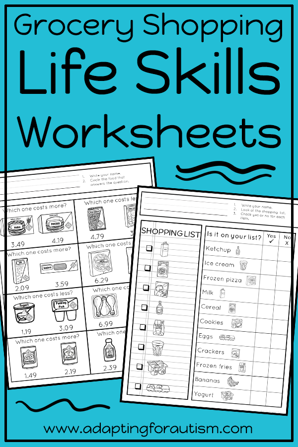Life Skills Worksheets for Special Education and Autism ...
