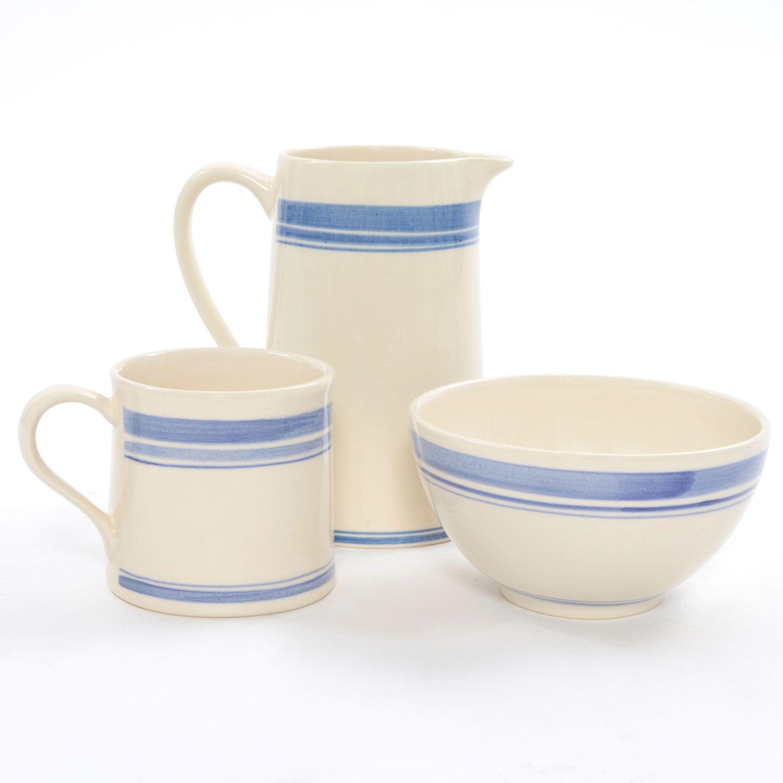 Heal\'s 1810 Jack Stripe Blue Mug   Tea and Coffee Accessories   H ...