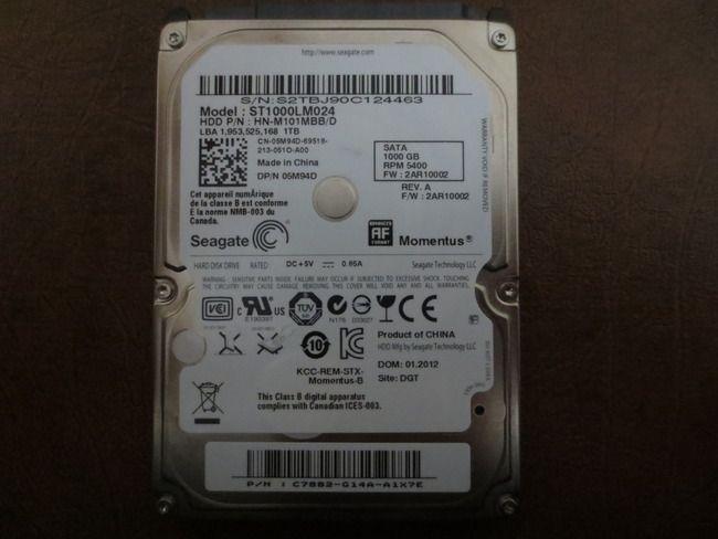 Seagate ST1000LM024 HN-M101MBB/D REV A FW:2AR10002 DGT 1 0TB