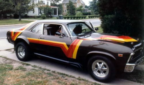 Nova With A 70 S Paint Job Gas Money Muscle Cars Cars Muscle